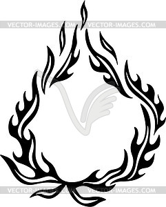 Flame tattoo vector clip art clipart panda free for Black and white flame tattoo