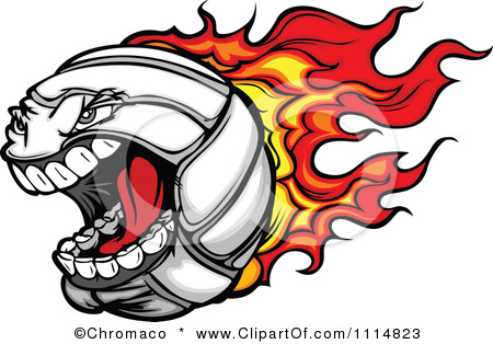 flaming%20volleyball%20clipart