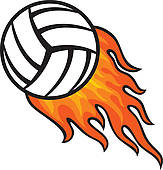 flaming volleyball clip art clipart panda free clipart images rh clipartpanda com Printable Volleyball Graphics Volleyball Clip Art Designs