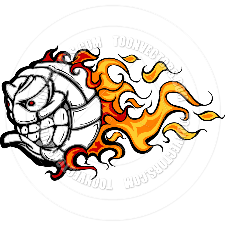 flaming volleyball clip art clipart panda free clipart images rh clipartpanda com Volleyball Serve free flaming volleyball clipart