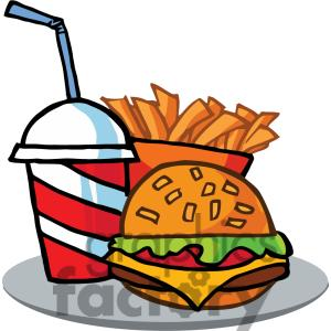 clipart junk flash drink clip fast french fries hamburger
