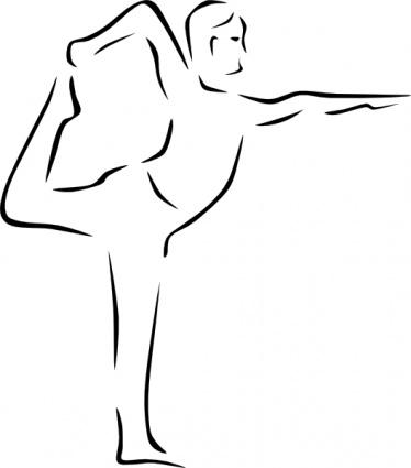Yoga clip art 6 374x425