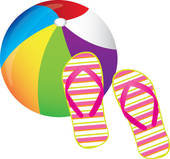 beachball and flip flops | Clipart Panda - Free Clipart Images