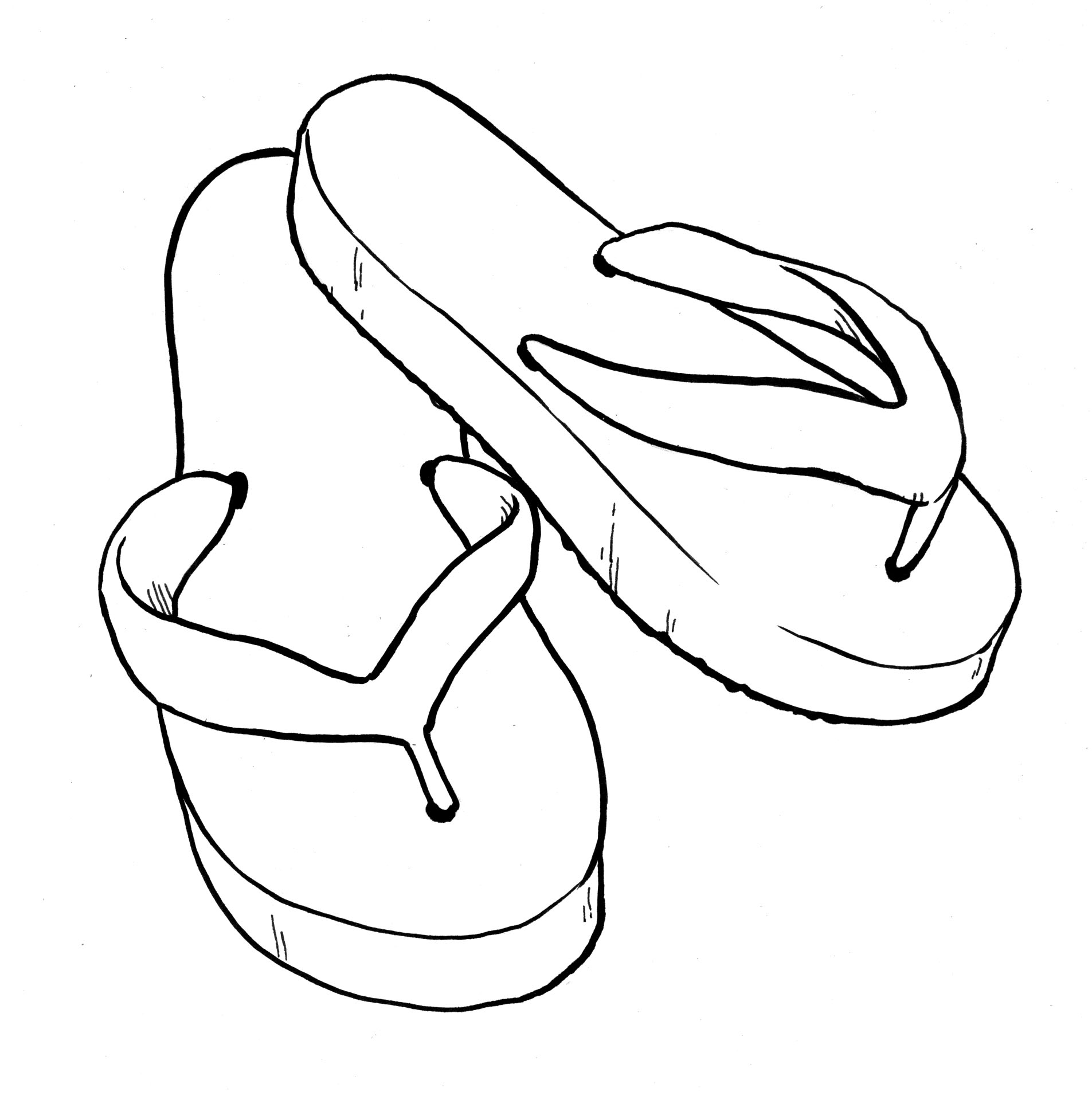 Flip Flops Clipart Black And White | Clipart Panda - Free ...