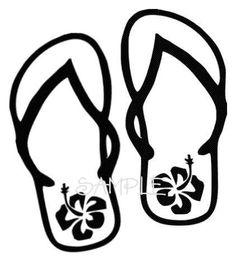 Beach Flip Flops Hawaiian | Clipart Panda - Free Clipart Images