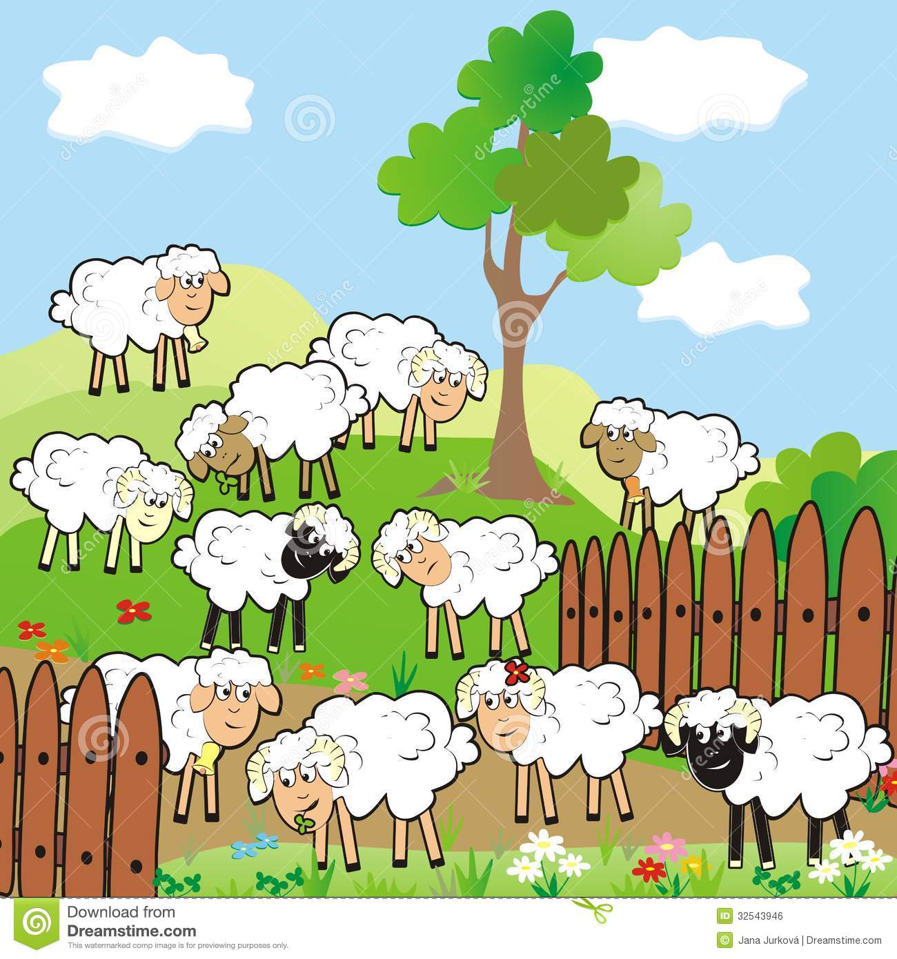 Watch more like Herd Of Sheep Clip Art