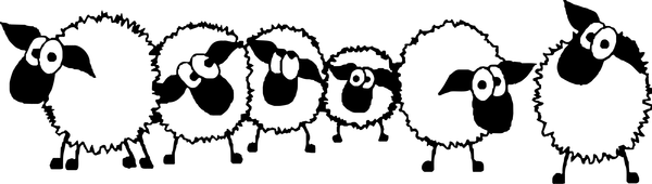 Sheep Flock Drawing Flock of Sheep Clipart
