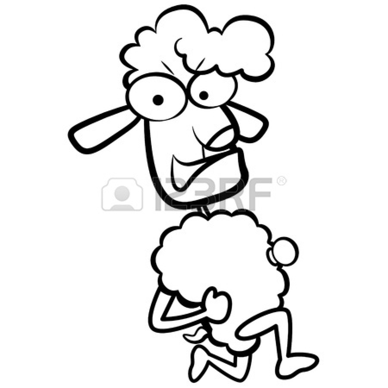 Sheep Flock Drawing Flock-of-sheep-coloring-page