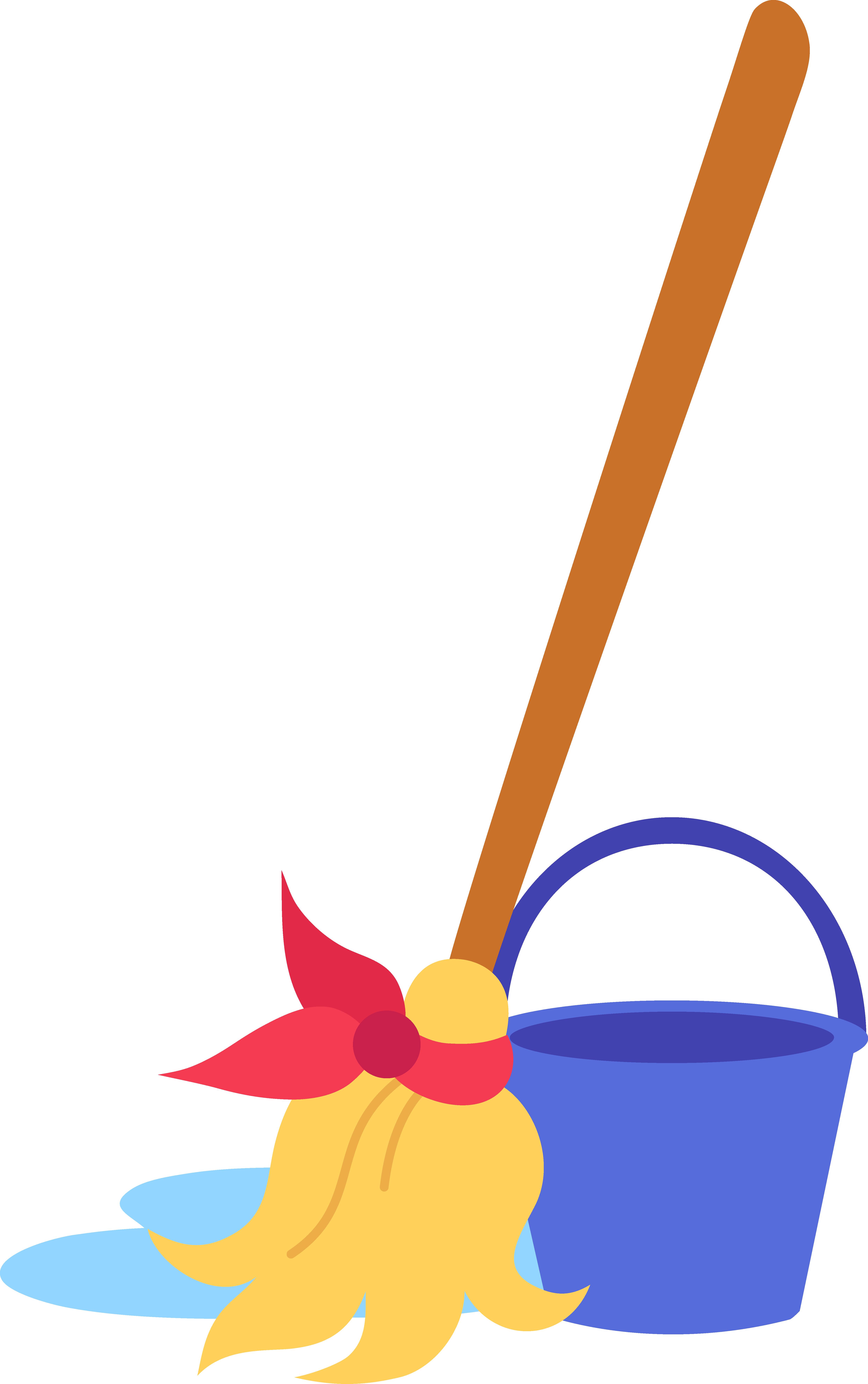Mop and Bucket Clip Art
