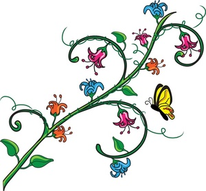 clipart flowers and butterflies border clipart panda free rh clipartpanda com floral clipart designs free floral clipart designs free