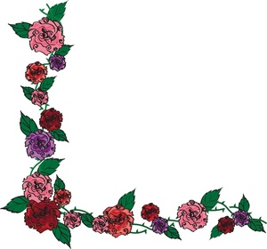 Black And White Rose Border Clip Art | Clipart Panda - Free ...