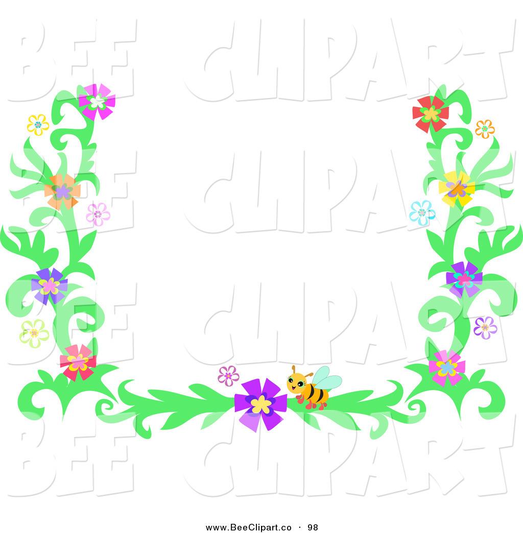 Purple flowers clip art border cliparts co - Flower 20border 20clipart