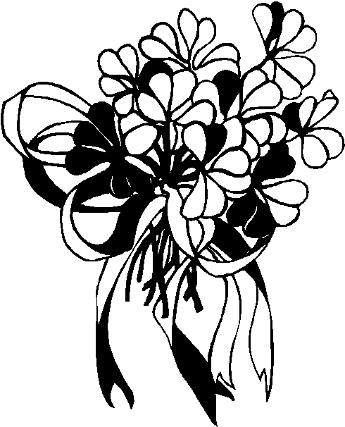 Sunflower Bouquet Clipart Black And White