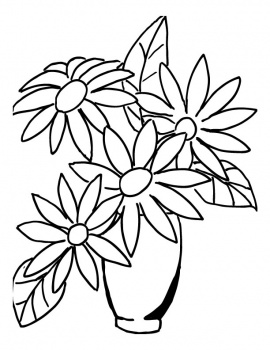 Flower bouquet outline clipart flower bouquet in a vase coloring page