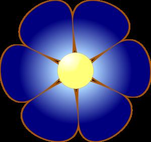 blue flower clip art at vector clipart panda free clipart images rh clipartpanda com blue flowers clip art blue flower clip art free