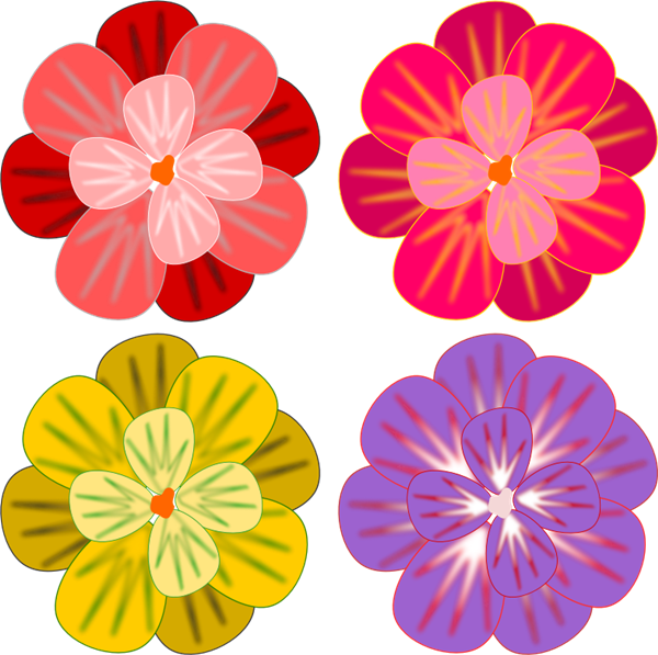 Flower colorful. Flowers clip art clipart