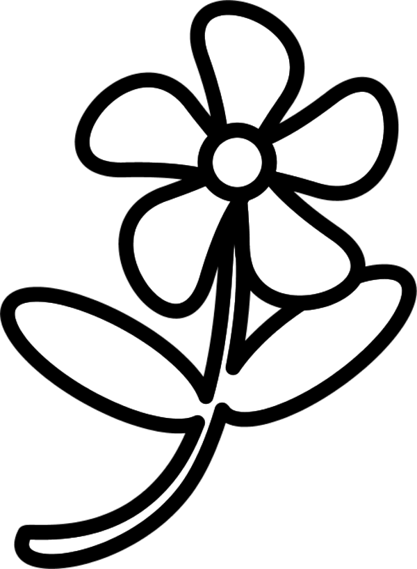 Out Line Drawing Flowers : Flower clip art outline clipart panda free images