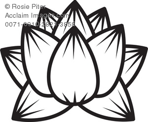 Lotus Flower Outline Art Clipart Panda Free Clipart Images
