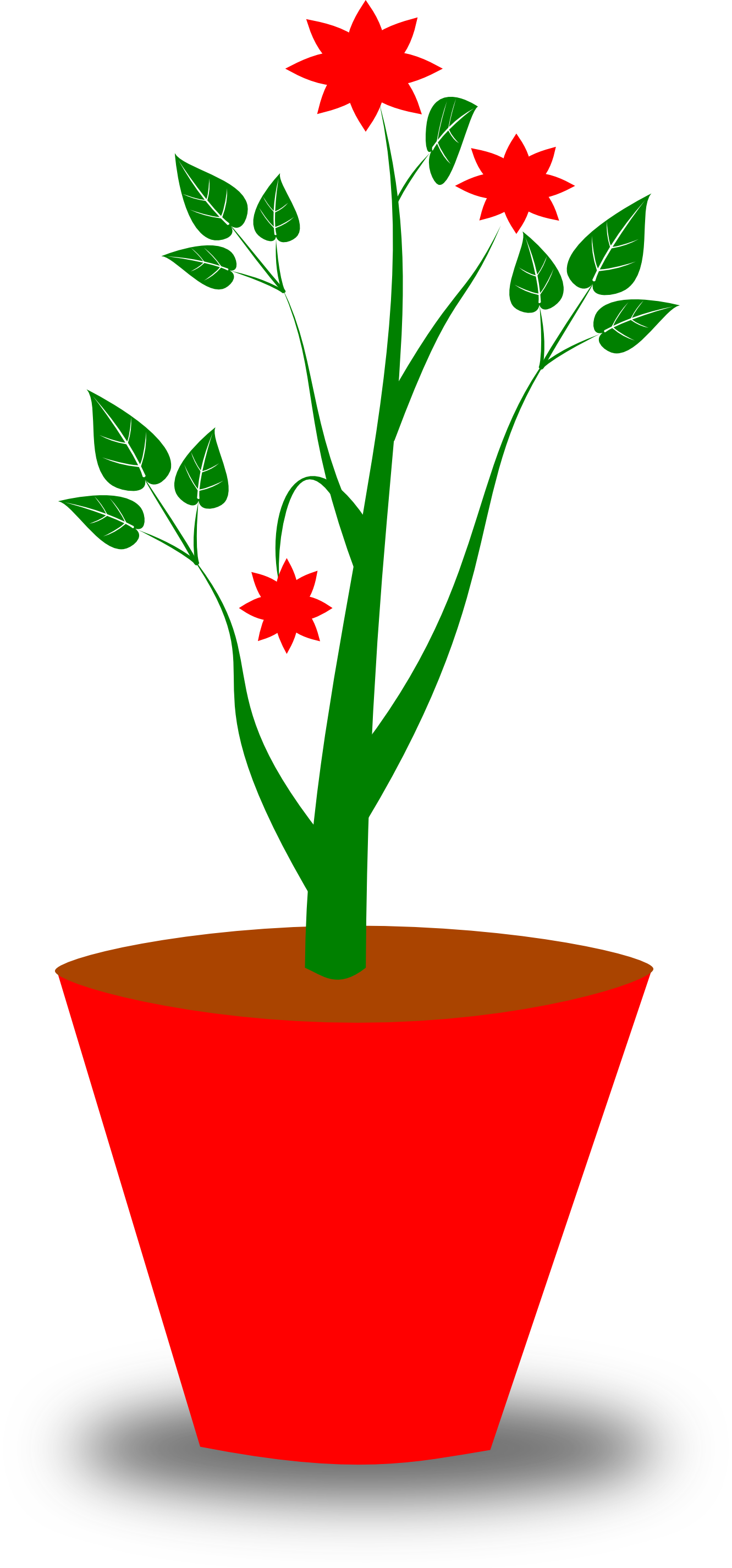 Decorative Flower Pots Clip Art