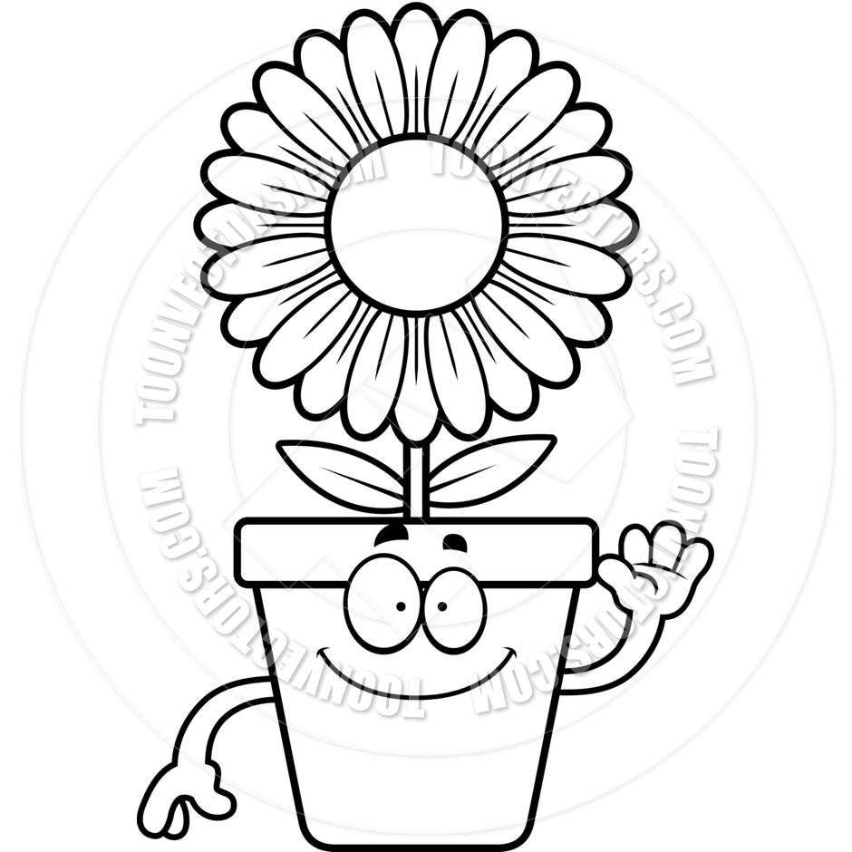 flower pot clipart black and white | clipart panda - free clipart
