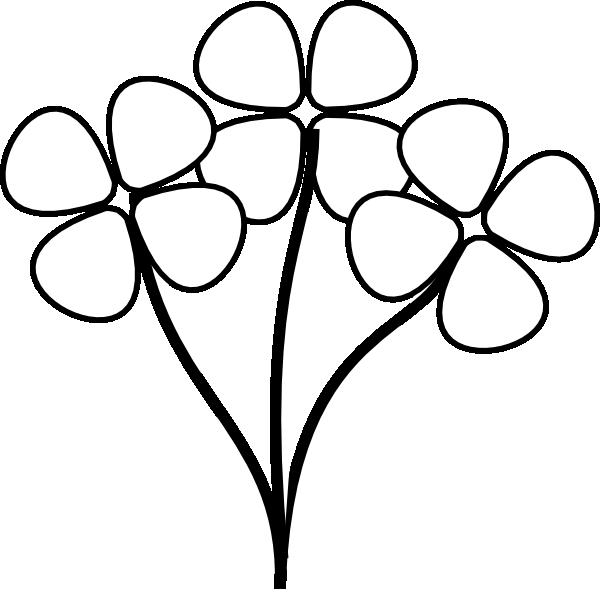 flower%20stem%20clipart%20black%20and%20white