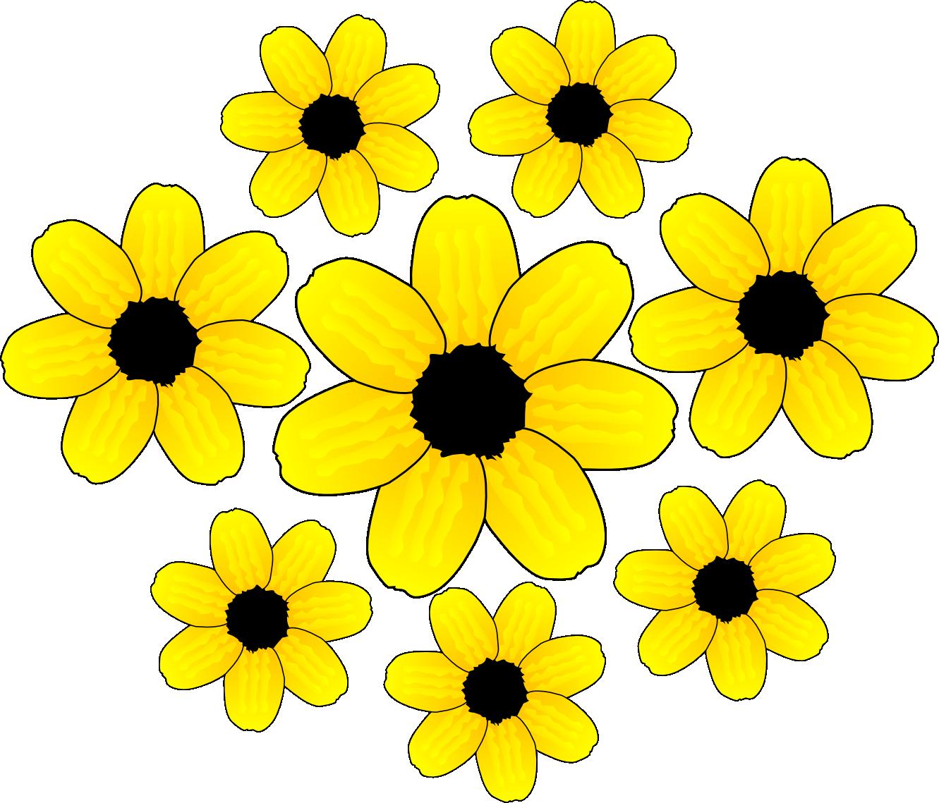 yellow flower clip art clipart clipart panda free clipart images rh clipartpanda com yellow bell flower clipart free yellow flower clipart