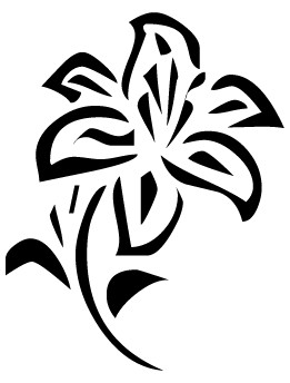 flowers%20clipart%20black%20and%20white