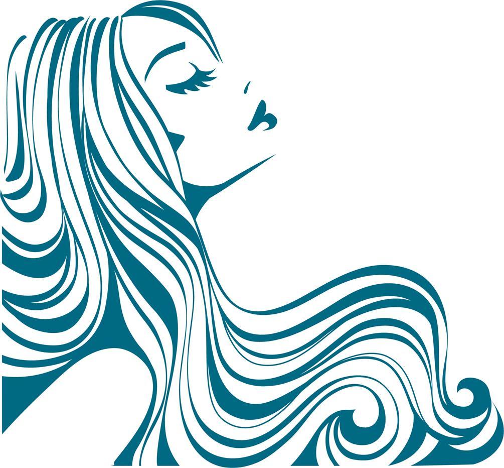 Flowing Hair Silhouett...