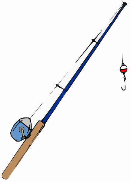 Fishing pole silhouette clipart panda free clipart images for Fishing rod clips