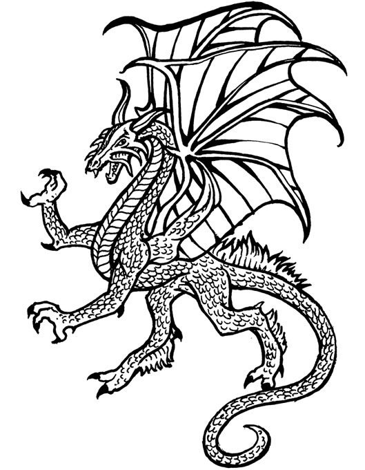 Dragon Coloring Page Printable  Coloring Pages