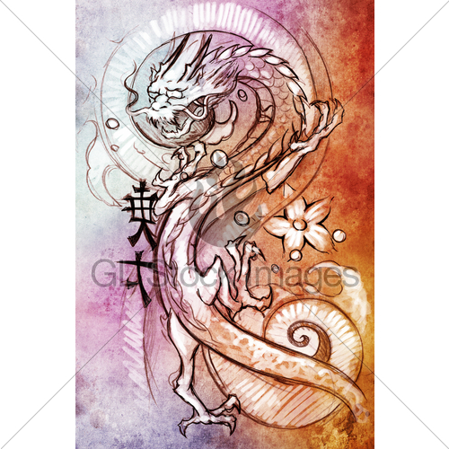 Flying Dragon Sketch   Clipart Panda - Free Clipart Images