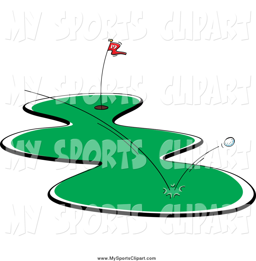 Flying golf ball clipart