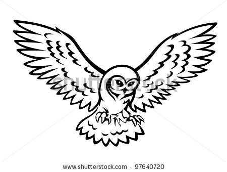 flying20owl20clipart20black20and20white