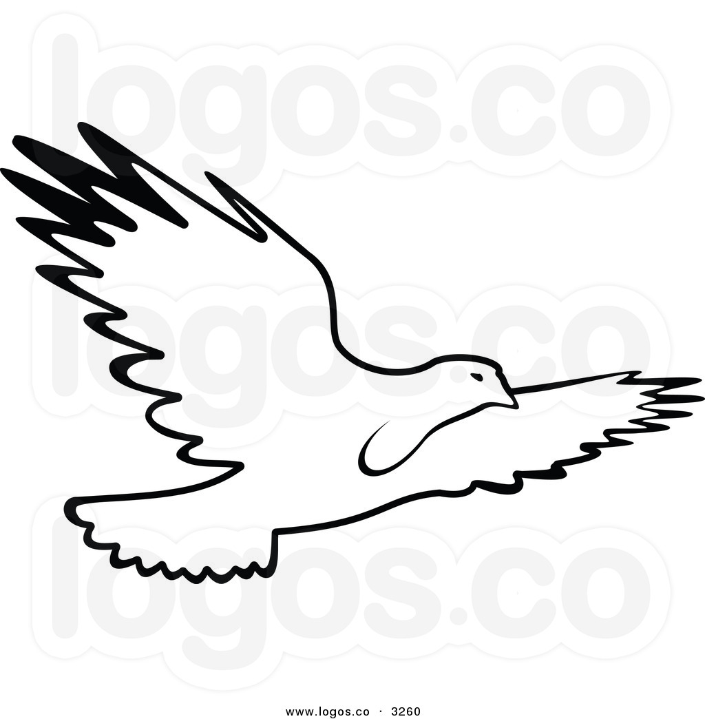 Bird Flying Clipart Black And White