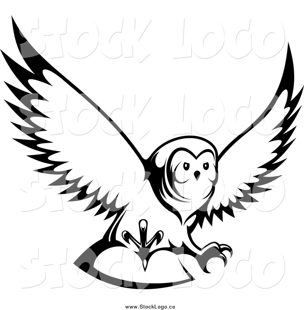 Owl flying. Clipart panda free images