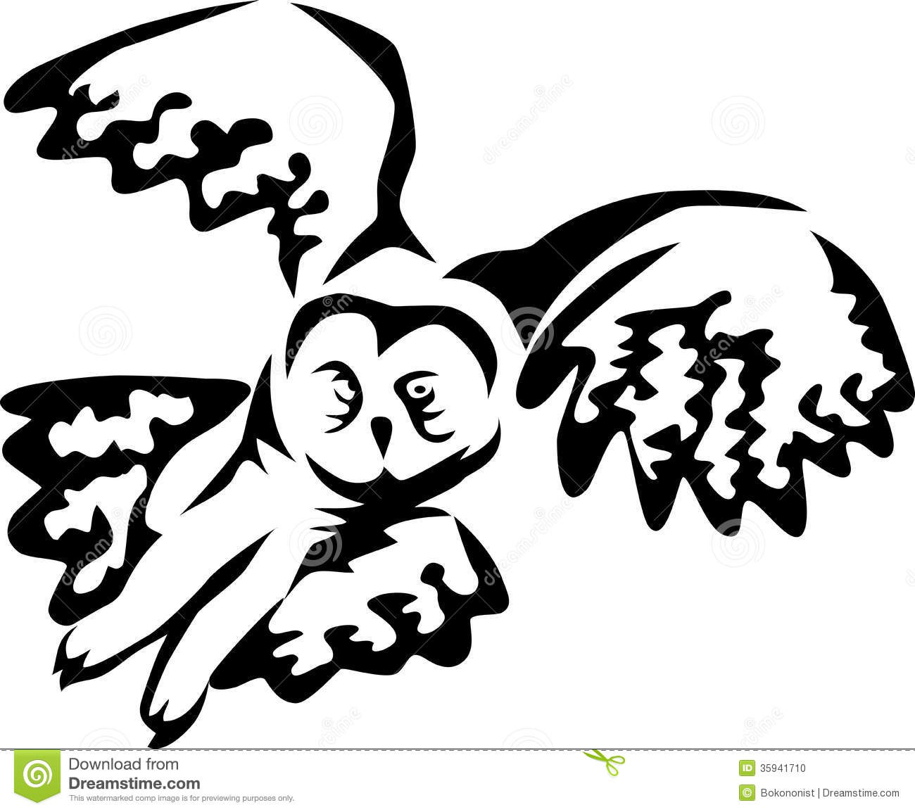 Flying owl stencil - photo#4