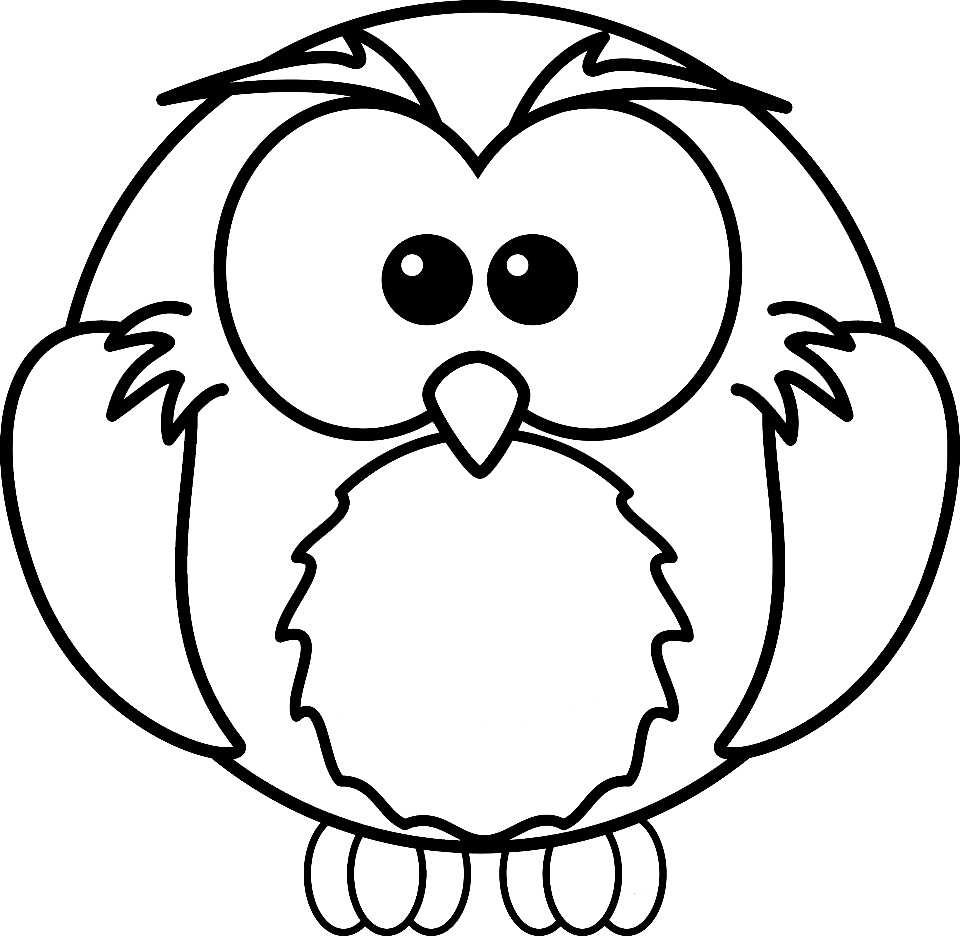 flying owl line drawing clipart panda free clipart images