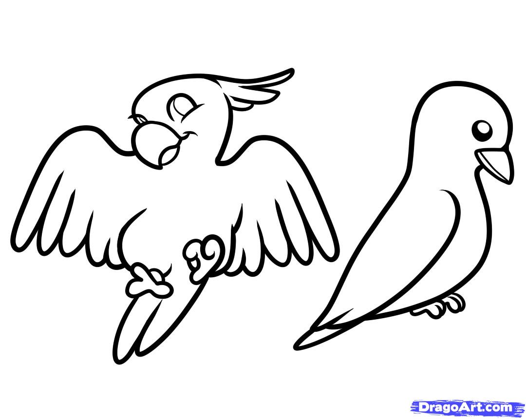 How to Draw Birds For Kids | Clipart Panda - Free Clipart ... Flying Birds Drawing For Kids