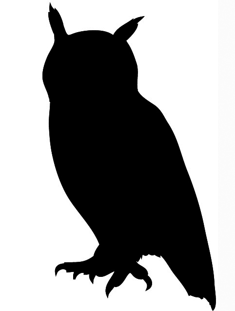 Owl silhouette black | Clipart Panda - Free Clipart Images