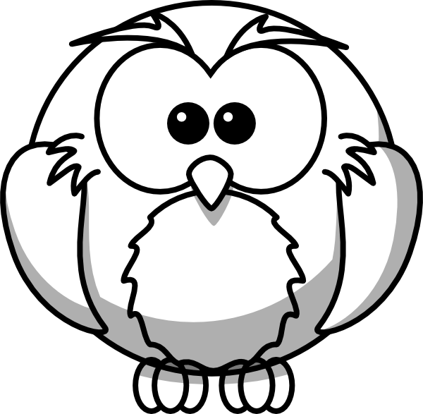 Baby Snowy Owl Drawing Free Owl Outline Clipart