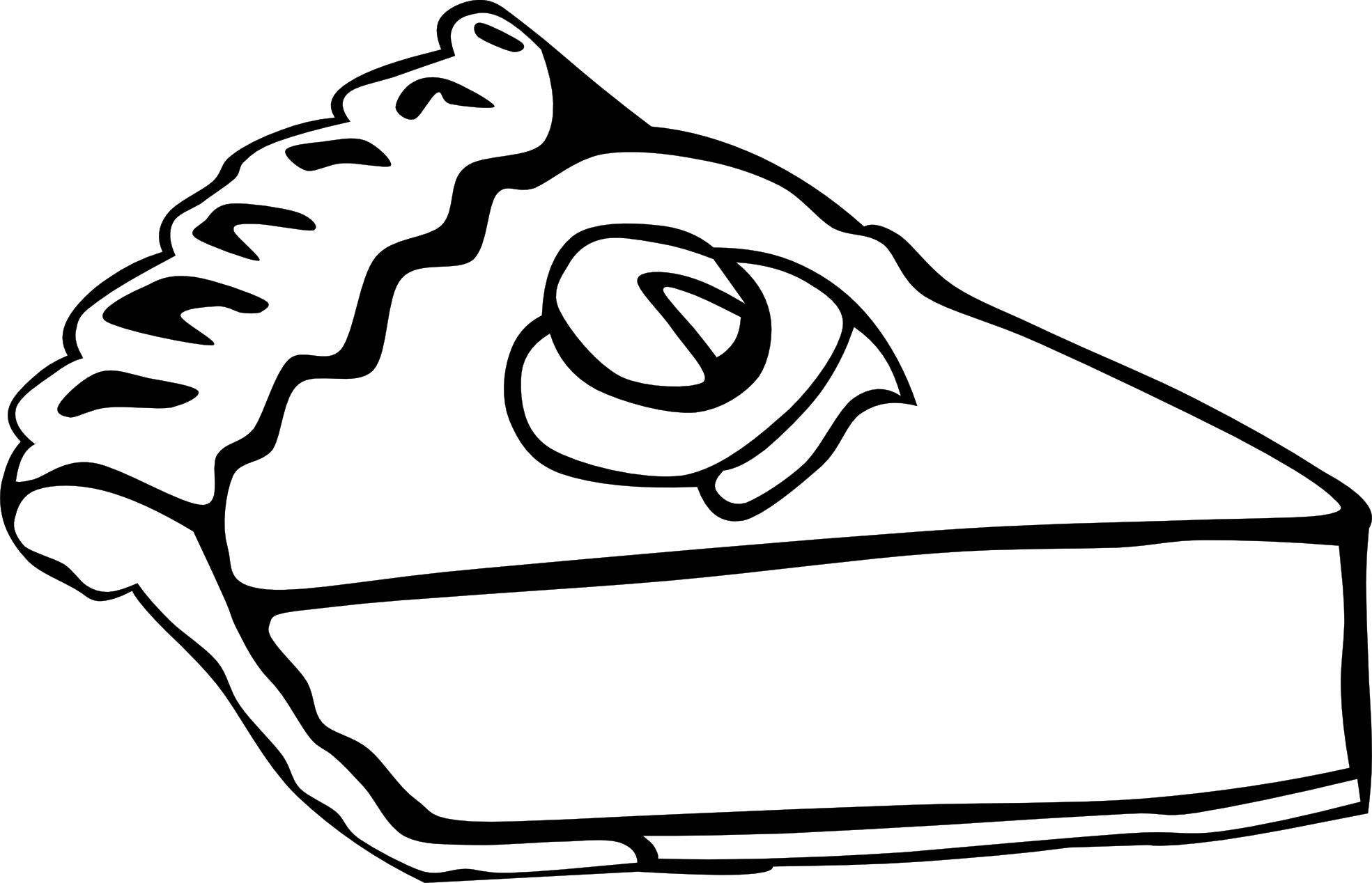Line Drawing Food : Food clipart black and white panda free