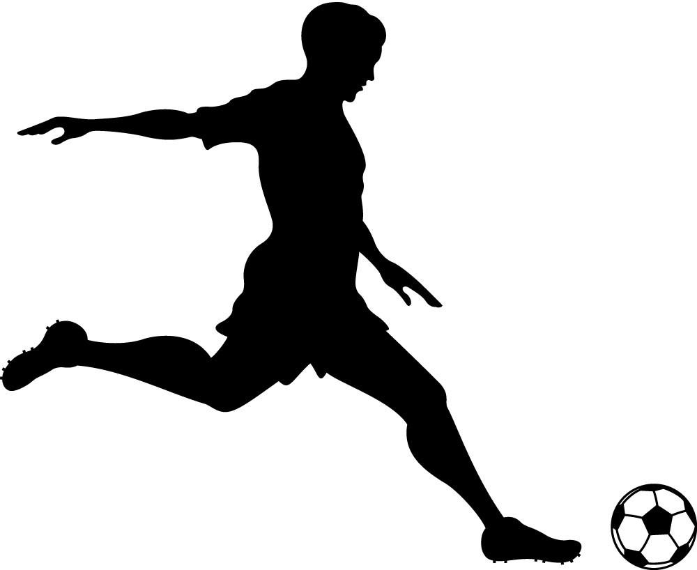 Foot Kicking Soccer Ball | Clipart - 39.8KB