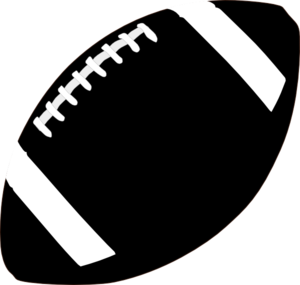 Football white. American clipart black and