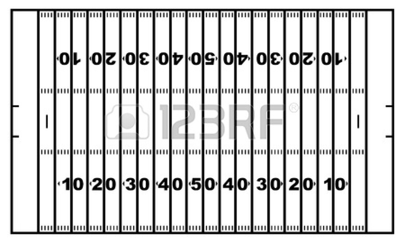 Football Field Diagram Black And White | Clipart Panda - Free