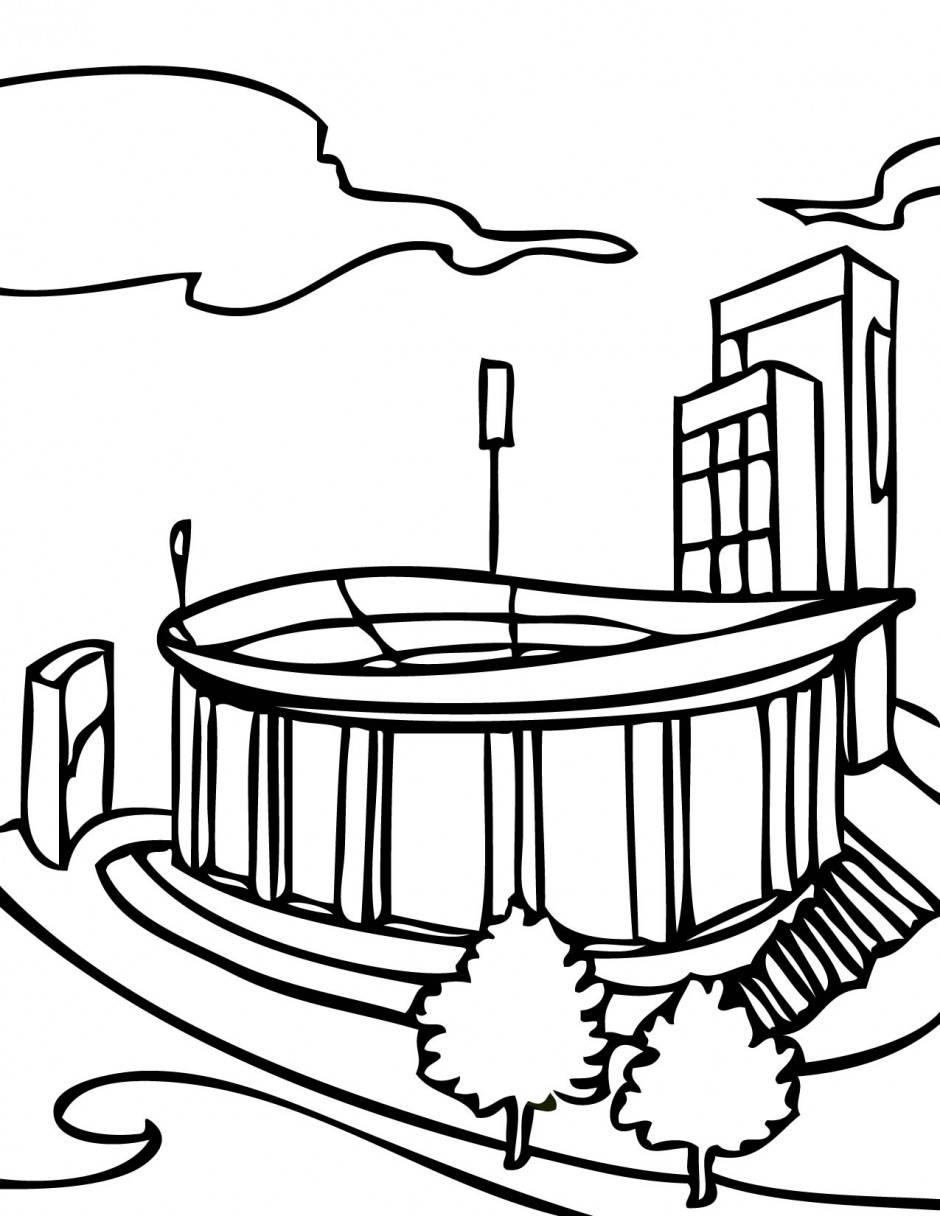 Football Field Coloring Page