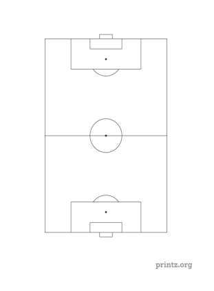 Football Field Diagram Black And White  Clipart Panda  Free