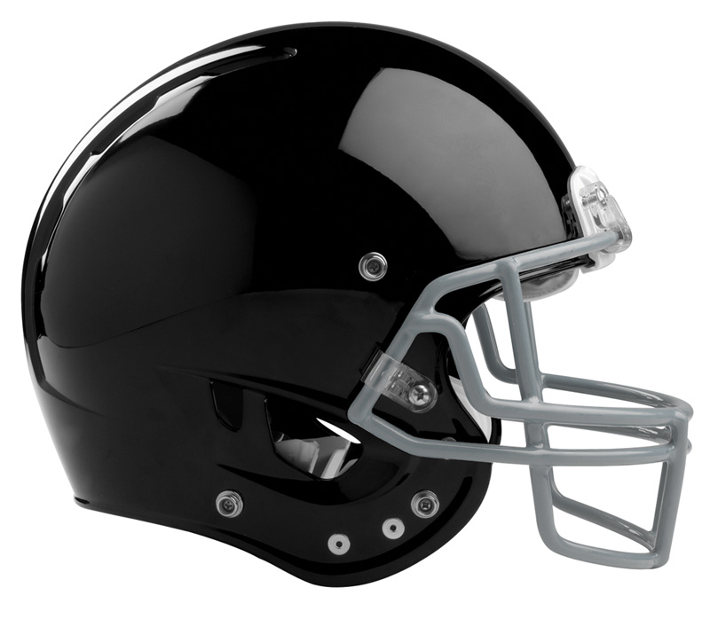 Front Bumper Black Rawlings Football : White football helmet front clipart panda free
