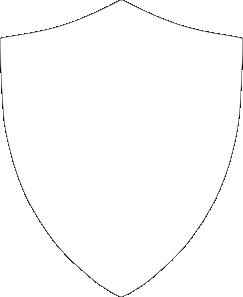 Edged Shield Shape Shield Clipart Black A...