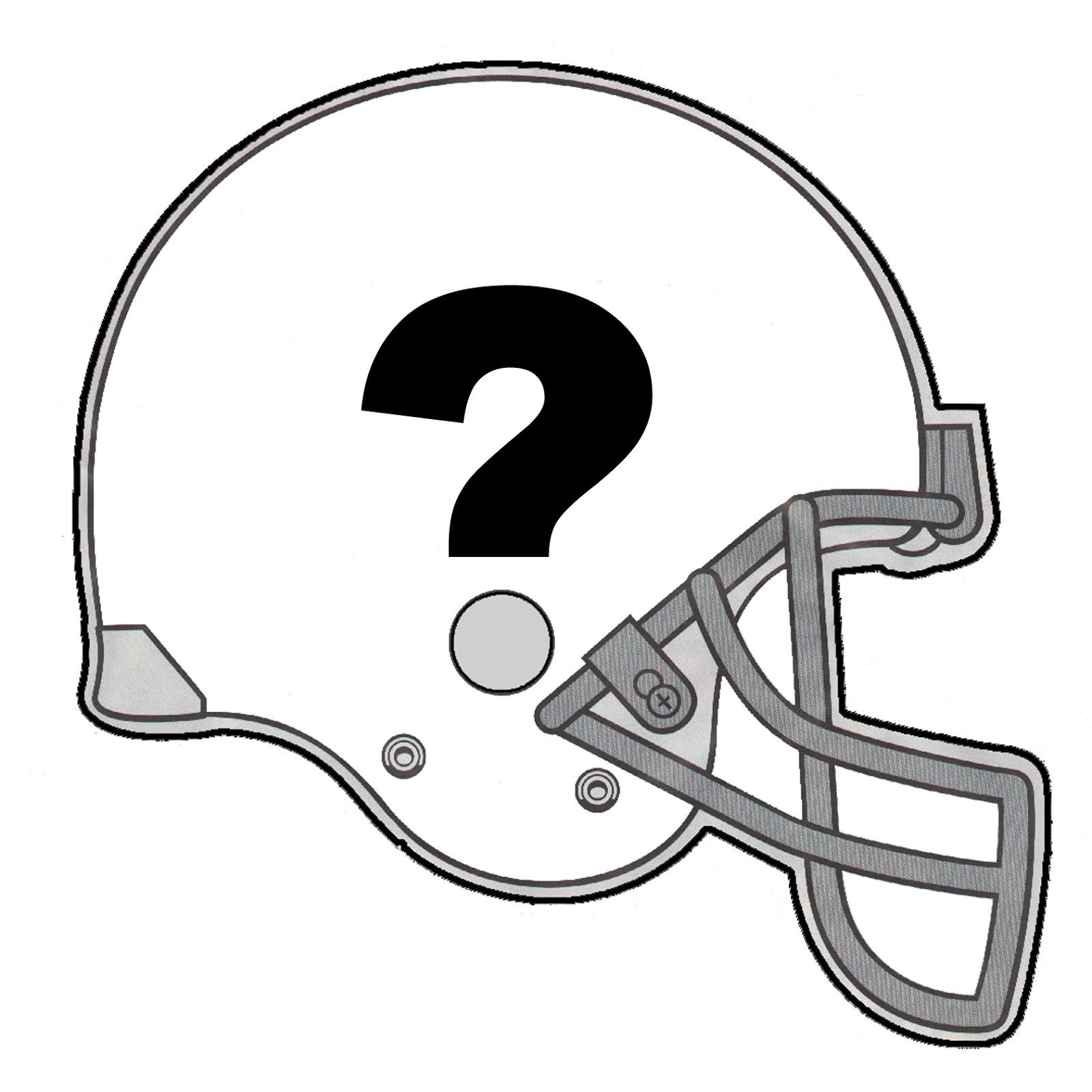 Football helmet front drawing
