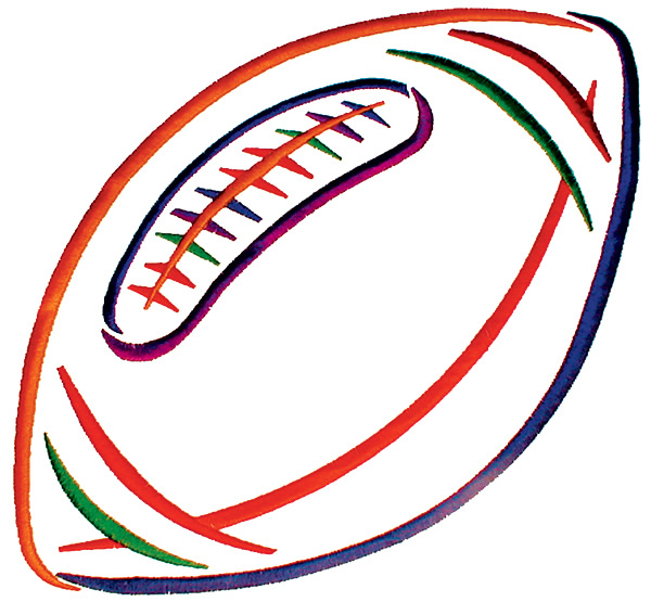 Football outline image